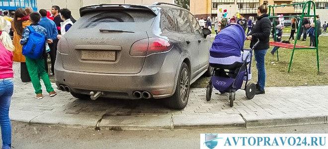 Автоматическая фиксация нарушения парковки на тротуаре